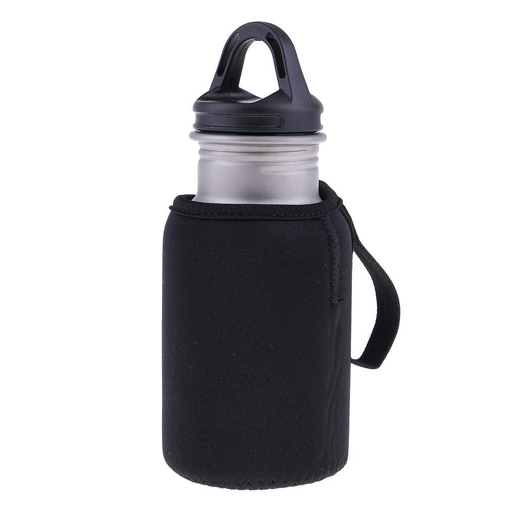 Perfk Sport Wasserflasche mit Schutzhülle Flaschenhalter, viele Farbe Auswahl