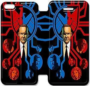 iPhone 6 6S Plus 5.5 Inch funda,NSDFIUOSR8123 Flip cubierta y soporte para iPhone 6 6S Plus 5.5 pulgadas - S.H.I.E.L.D