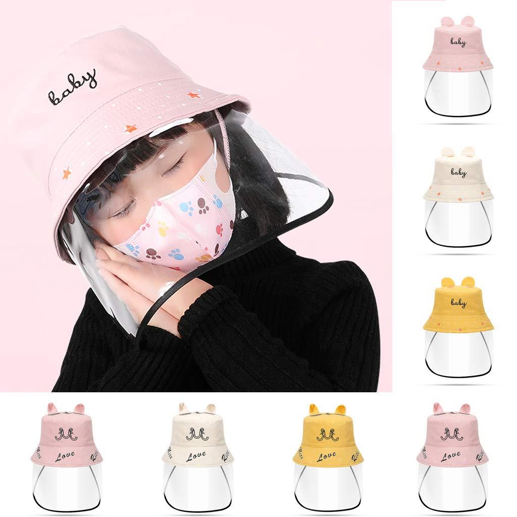 cappello da pescatore antipolvere cappuccio di protezione per bambini berretto di protezione per la bocca copertura per ragazzi e ragazze Cappello di protezione anti sporco anti-appannamento
