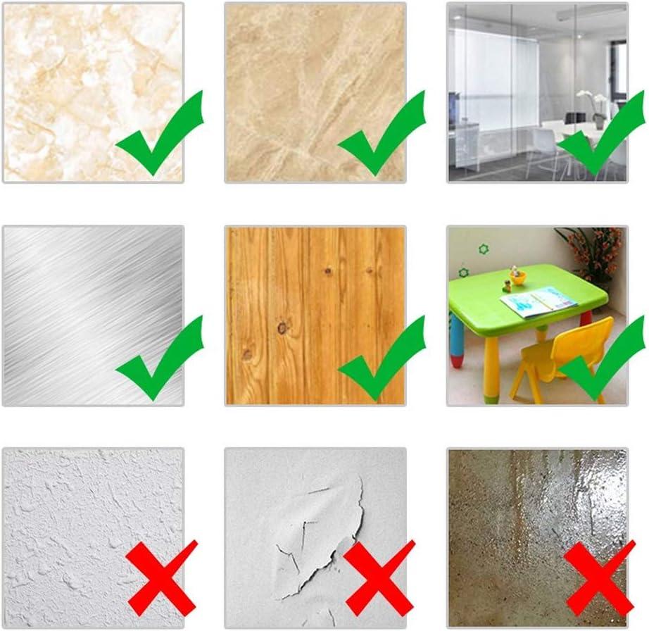 sin residuos resistente al calor impermeable extra/íble cinta acr/ílica transparente y fuerte para interior y exterior Homgaty 6 paquetes de cinta de montaje de doble cara resistente