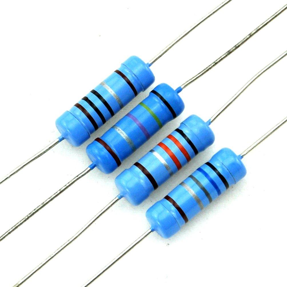 Electronics-Salon 5PCS 2.2K OHM 1% 3W Axial Metal Film Resistor, 3 ...