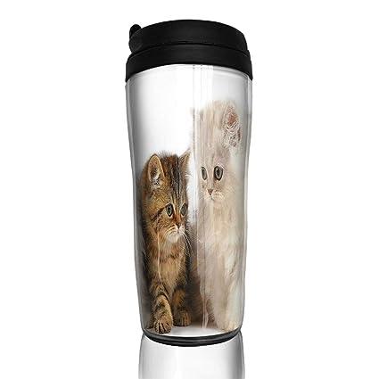 18e30c56cb84 Amazon.com : Bei Tang Coffee Cup Four Cute Cats Travel Tumbler ...