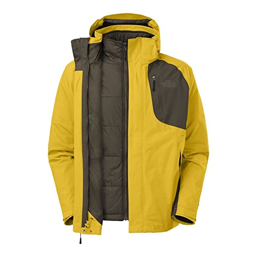 e6ddb2de2 The North Face Men's Carto Triclimate Jacket Sulphur Yellow/Black Ink Green  XX-Large