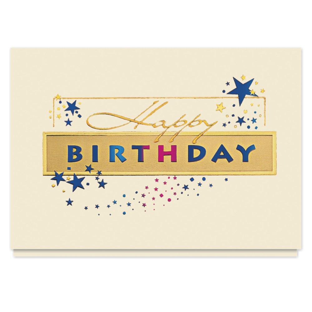 Amazon Golden Birthday Sparkle Card 25 Premium Birthday Cards