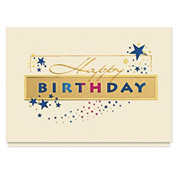 Amazon Golden Birthday Sparkle Card 25 Premium Birthday Cards