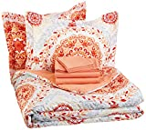 AmazonBasics 7-Piece Bed-In-A-Bag - Full/Queen, Coral Medallion - Best Reviews Guide