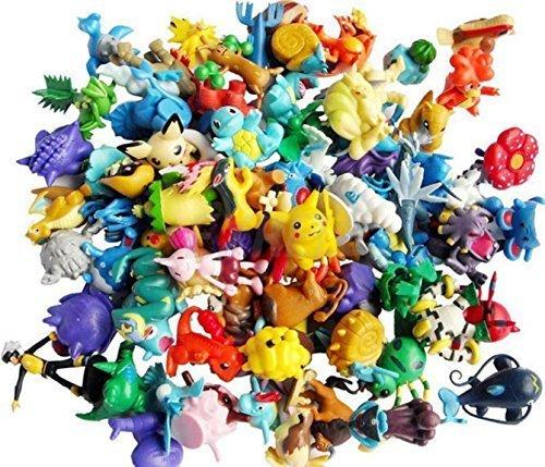 24 Random & Unique Pokémon Anime Action Figure Cupcake Toppers