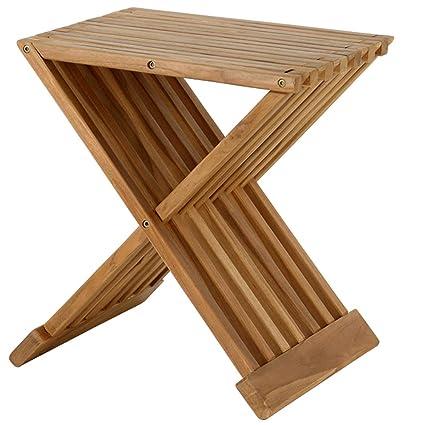 Teak Shower Stool Teak Shower Bench 17 Folding Shower Seat Waterproof Bench Stool Bath Sauna Seating Spa Mantis Folding Teak Chair Fully