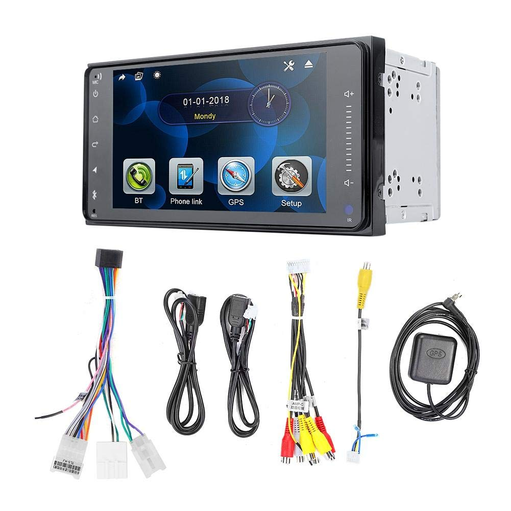 Qii lu 7 Inch Car MP5 Player,Smart Portable Touch Screen Car GPS Player Universal for Toyota (1+16 G)