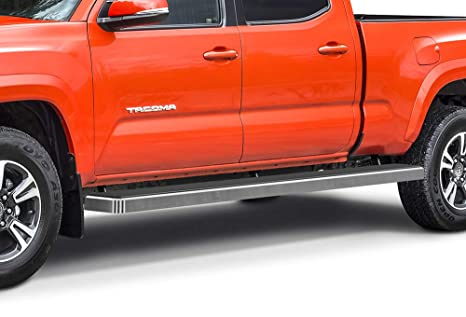 APS iBoard Running Boards (Nerf Bars Side Steps Step Bars) Compatible with  2005-2019 Toyota Tacoma Double Crew Cab Pickup 6ft Bed (Silver 6 inches