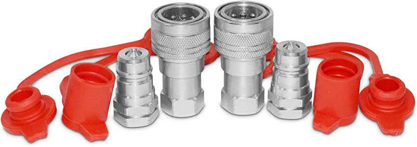 Hydraulic Quick Disconnect Coupler 3//8 NPT,CEKER ISO 7241-A Tractor Couplers Hydraulic Coupling