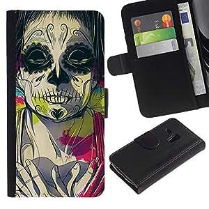 iBinBang / Flip Funda de Cuero Case Cover - Juggalo Muerte Profundo Significado Rosa Dibujo - Samsung Galaxy S3 MINI NOT REGULAR! I8190 I8190N