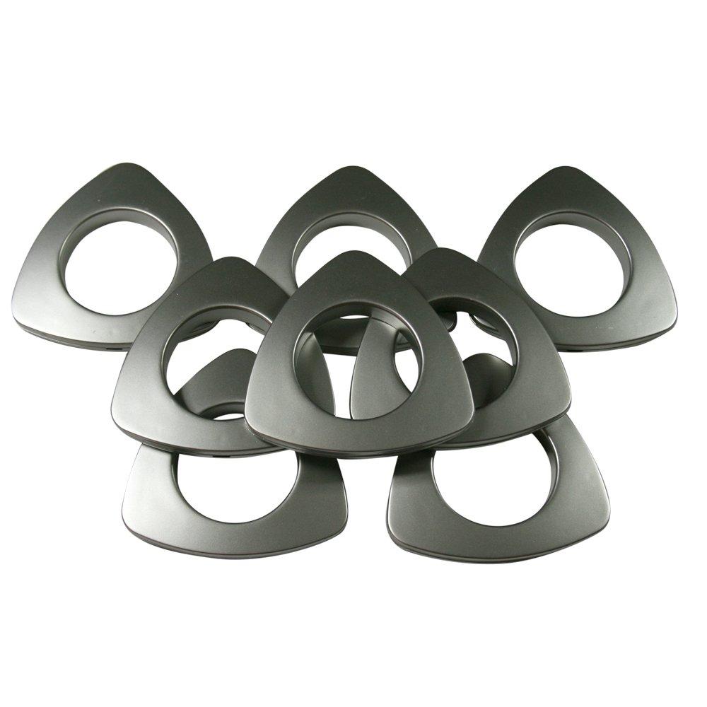 Triangle #10 Plastic Grommets, 1 3/8'', 8 Sets, Matte Nickel