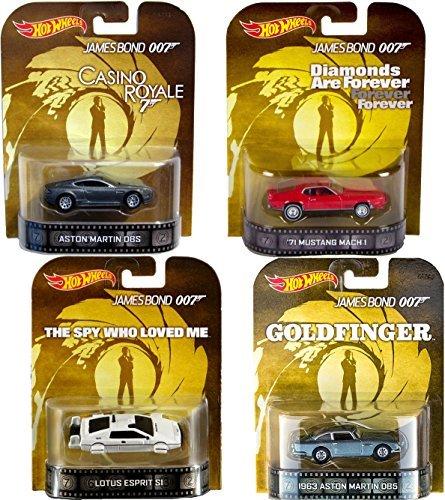 007 Retro Entertainment Hot Wheels James Bond 4 cars with Goldfinger Aston Martin, Lotus & Mustang (Lotus Esprit Submarine)