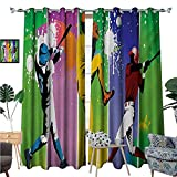 Best Div X Players - BlountDecor Baseball Thermal Insulating Blackout Curtain Players in Review