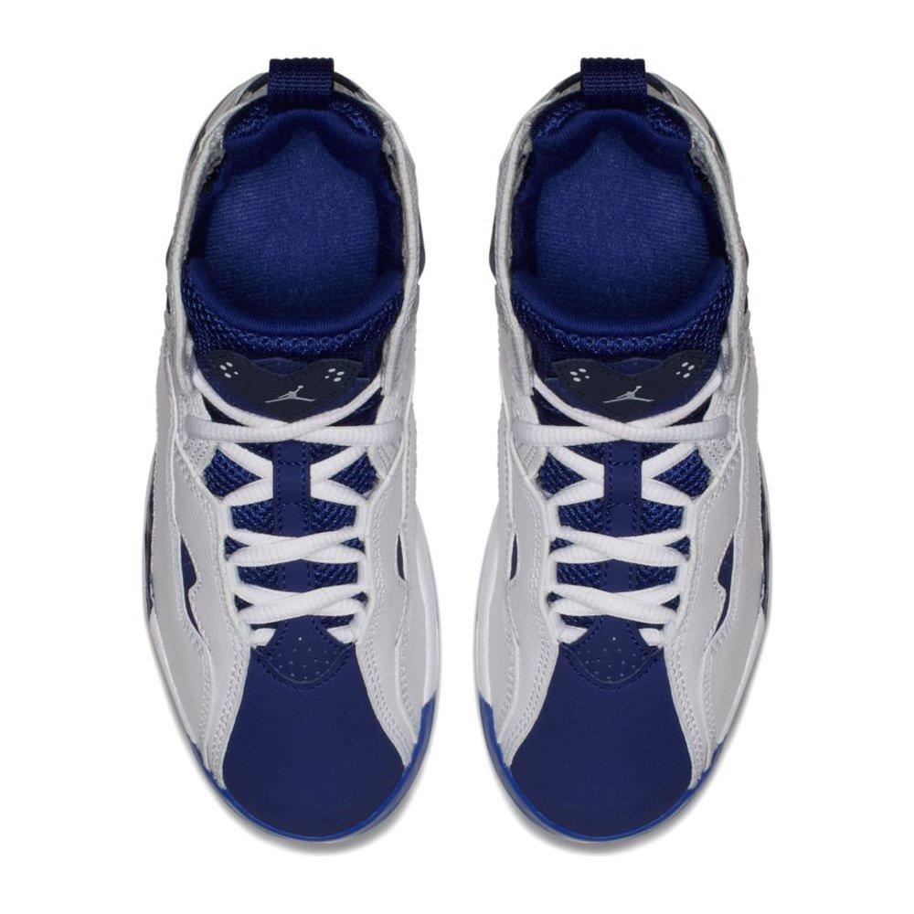 6fba533f09f8 Amazon.com  NIKE Jordan True Flight BP Boys Fashion-Sneakers 343796-116 12.5C  - White White-Deep Royal Blue  Sports   Outdoors
