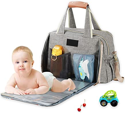 Large Diaper Bag Tote With Changing Pad