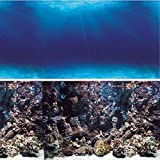 Vepotek Aquarium Background Deep Seabed/Coral Rock Double sides (Deep Seabed/Coral Rock, 48WX24H)