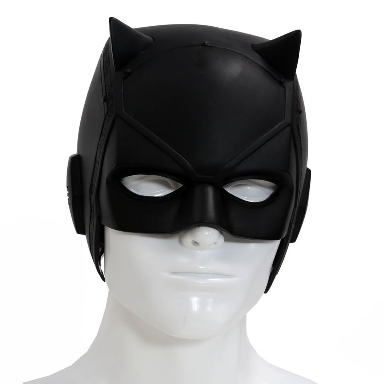 Amazon.com: Dare Devil Mask Matt Murdock Cosplay Adult Black PVC ...