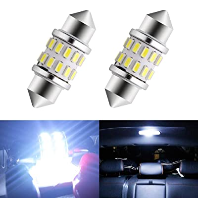 EverBrightt 2-Pack Cool White 31MM 3014 24SMD LED Festoon Light Lamp for Map Light Dome Light Trunk Light Plate Light: Automotive