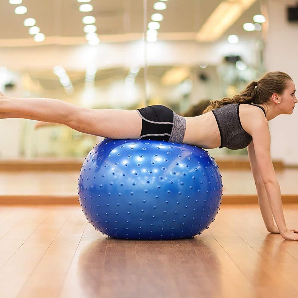 Yoga Peanut Ball Anti-Burst Aerobic Gym Ejercicio Abdominal Pierna Deporte para coordinaci/ón Articulaci/ón Muscular Dolor Alivio Embarazo Pilates Antideslizante Balance Ball Ejercicio de yoga Uno 45CM
