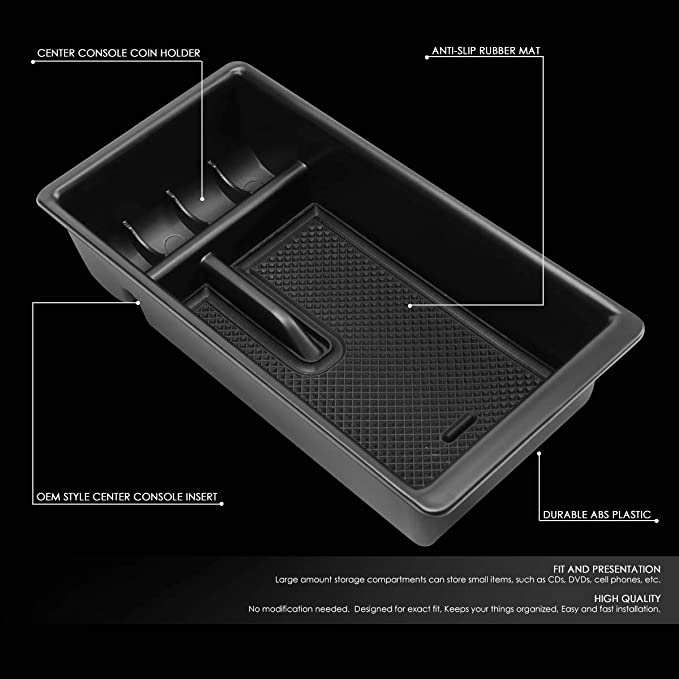DNA Motoring ZTL-Y-0016 Center Console Armrest Organizer Tray