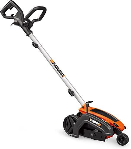 WORX WG896 12 Amp 7.5 Electric Lawn Edger Trencher, 7.5in, Orange and Black