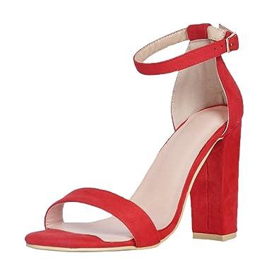 Chaussures Kolnoo rouges Sexy femme jZWsR0L1