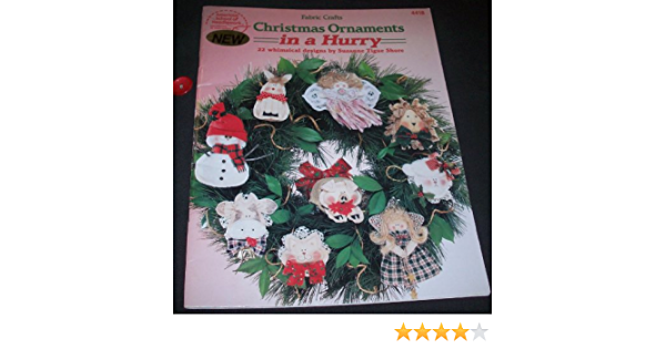 vintage 1994 fabric craft patterns  Christmas ornaments in a hurry by Suzanne Tigue Shore