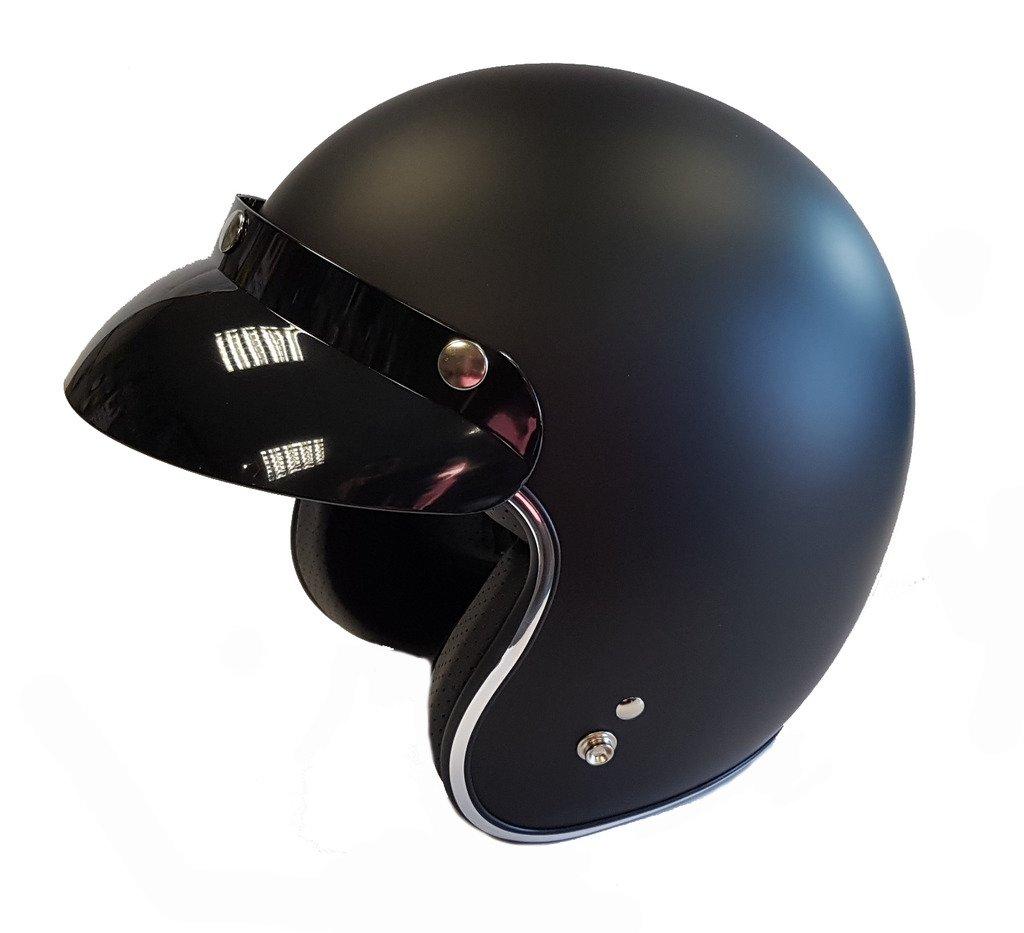 VIPER RS-05 SLIM SKINNY FIT RETRO CUSTOM BOBBER OPEN FACE MOTORCYCLE HELMET MATT BLACK MEDIUM