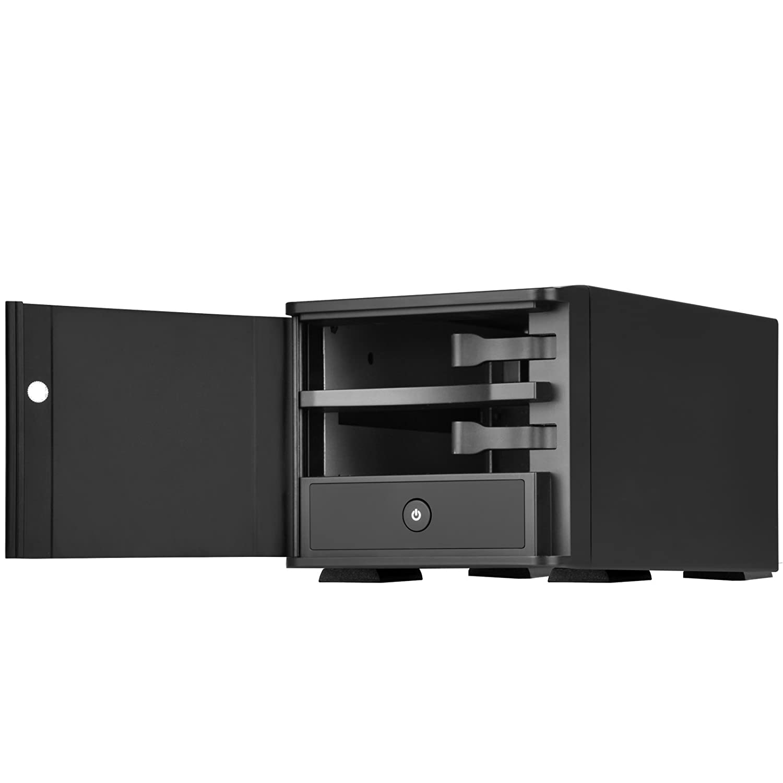 """SilverStone SST-TS231U-C - Carcasa para disco duro externo USB 3.1 Gen 2 con almacenamiento Raid de 2 bahías, para HDD SATA o SSD de 3,5"""", negro"""