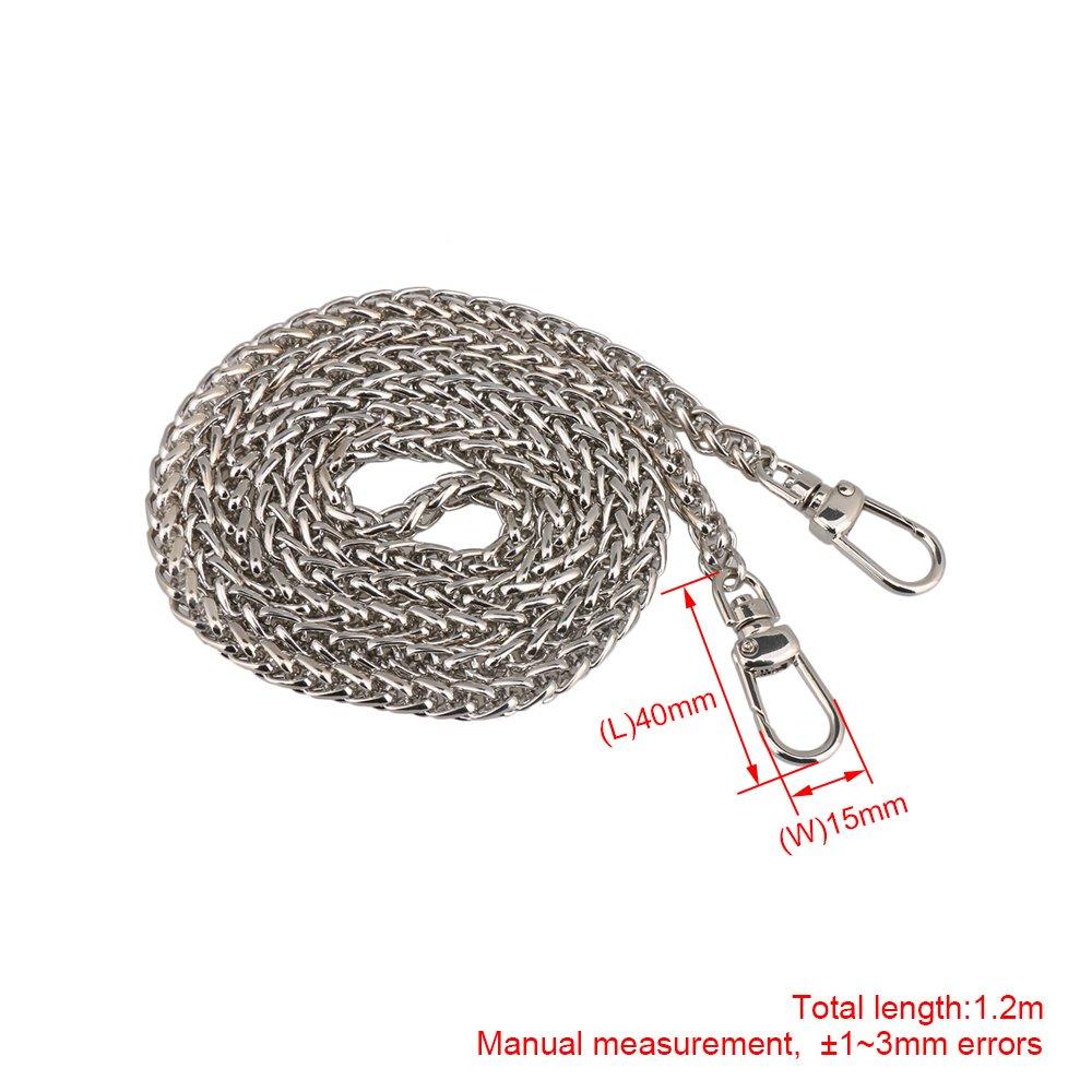 BQLZR Metal correa de cadena hombro Crossbody bolso de mano bolsa bolso de mano DIY reparaci/ón de repuesto marr/ón