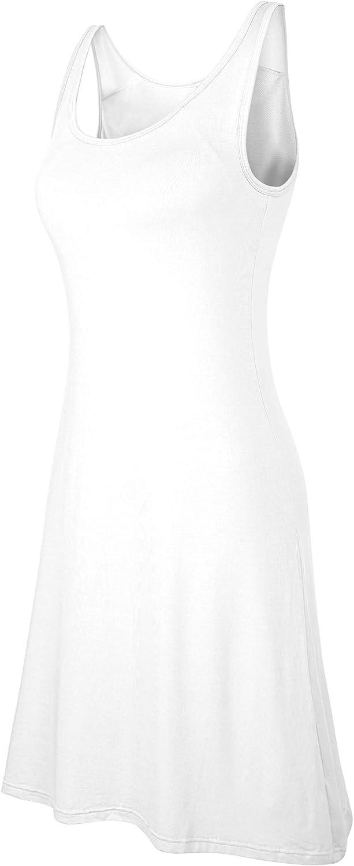 DYLH Damen Basic BH-Kleid Nachtkleid Mit Breit Tr/äger