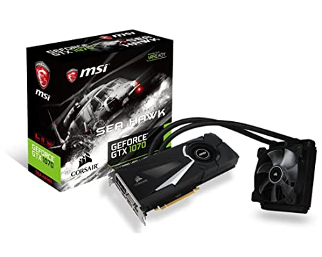 Amazon.com: MSI GeForce GTX 1070 Sea Hawk, GTX _ _ _ _ _ _ _ ...
