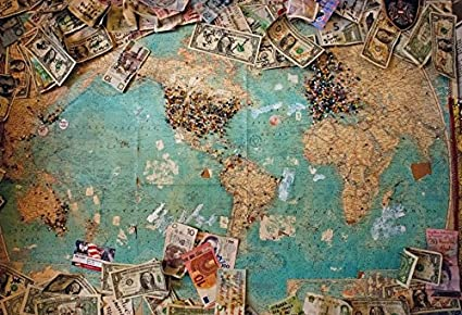 save off a5aa3 de340 Yeele 7x5ft Vintage World Map Backdrop Retro Shabby Map Dollar Pictures  Photography Background Room Interior Decoration