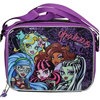 2f44da7ea995 Amazon.com  Monster High Lunch Box Carry Bag with Shoulder Strap and ...