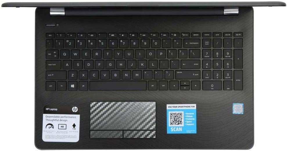 5-Packs Black carbonn Fiber Customized Trackpad Touchpad Cover Skin Protector for HP Pavilion Envy 15 Series (Model 15-BS