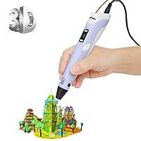 [Imprimante 3D Pen avec écran LCD] ohCome 3D Stéréoscopiques Impression Dessin Pen pour 3D Doodling Peinture + Modeling + Arts + Crafts Printing, Compatible avec 1.75mm PLA / Filaments ABS Printer - Violet