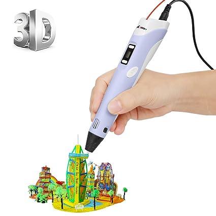 [Impresora 3D de la pluma con la pantalla LCD] ohCome 3D Estereoscópica Impresión de la Pluma de Dibujo 3D Garabateando Pintura + Modelado + Arte + ...