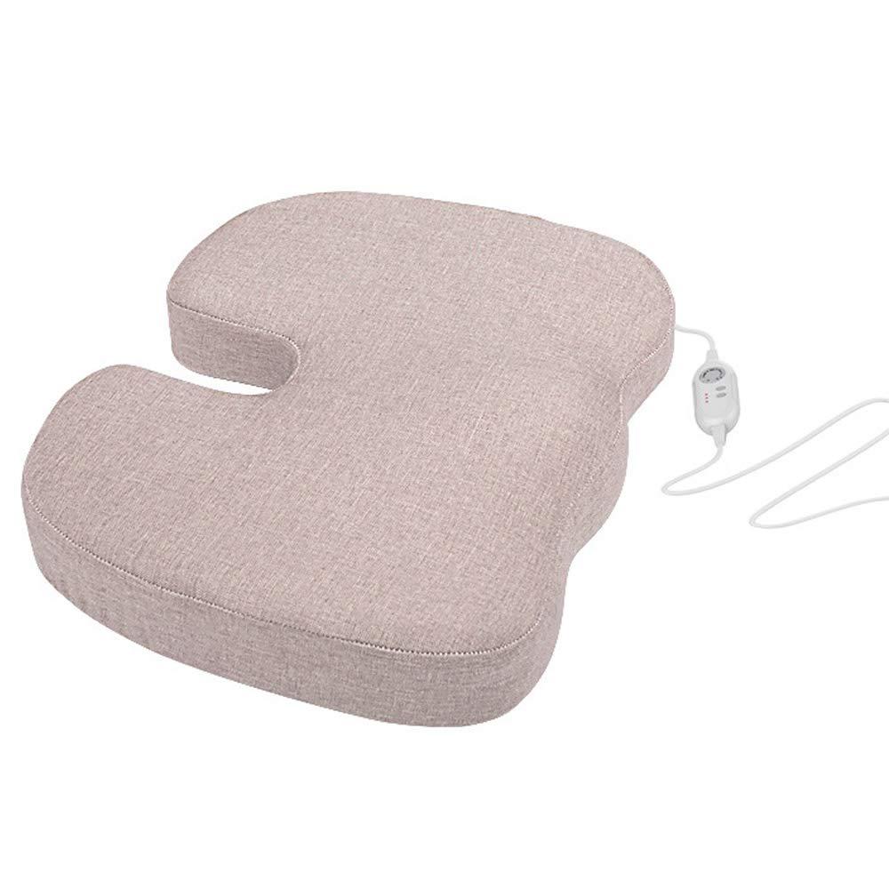 アドバンスドコンフォートヒーティングクッション - 滑り止め整形外科記憶泡シートクッション - シートクッション用オフィスチェア - 効果的に坐骨神経痛を和らげる B07QT7L75W