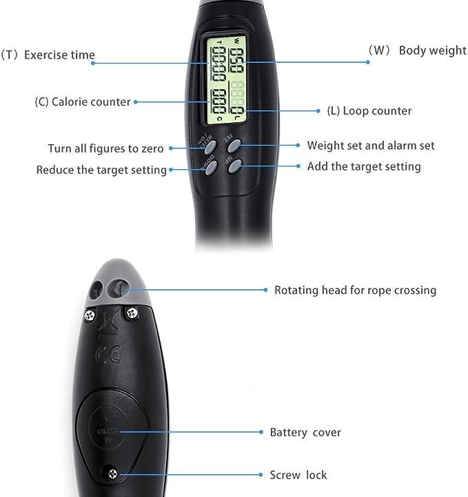 Digital Compter Corde à sauter électronique de Consommation De Calories Et La Distance Tracker