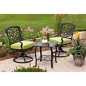 Better Homes and Gardens Hillcrest 3-Piece Outdoor Bistro Set, Seats 2