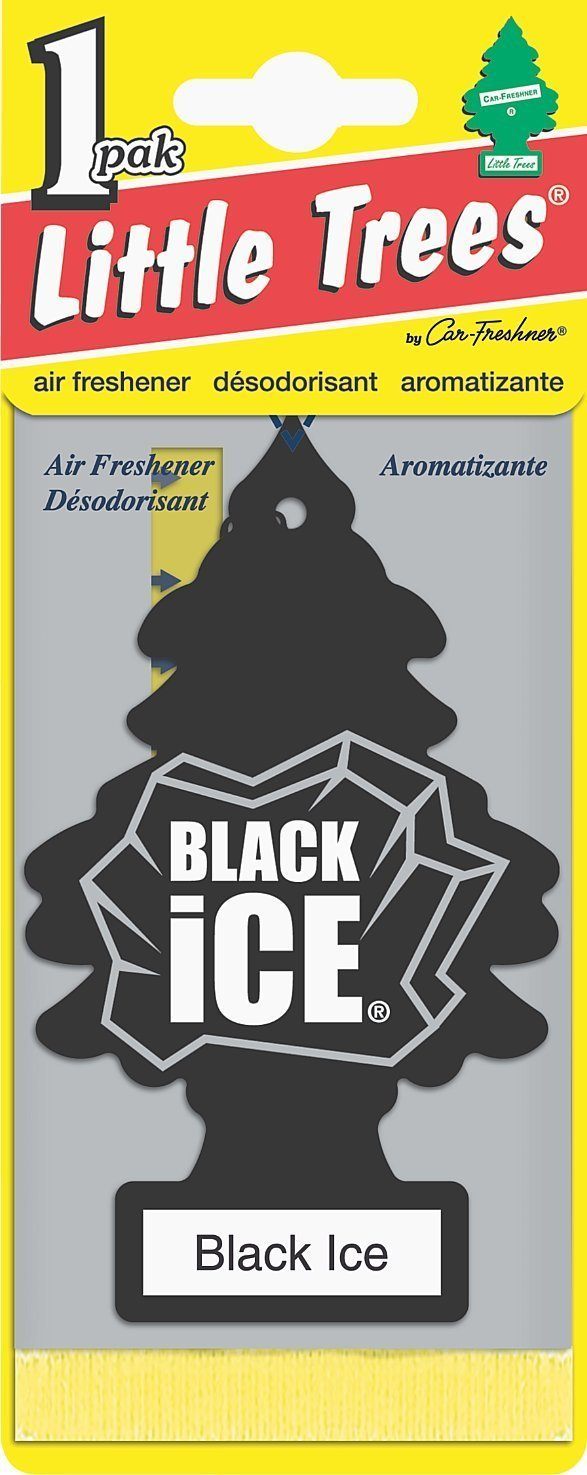 Little Trees Car and House Hanging Freshener, Black Ice (Pack of 12) Car Freshner