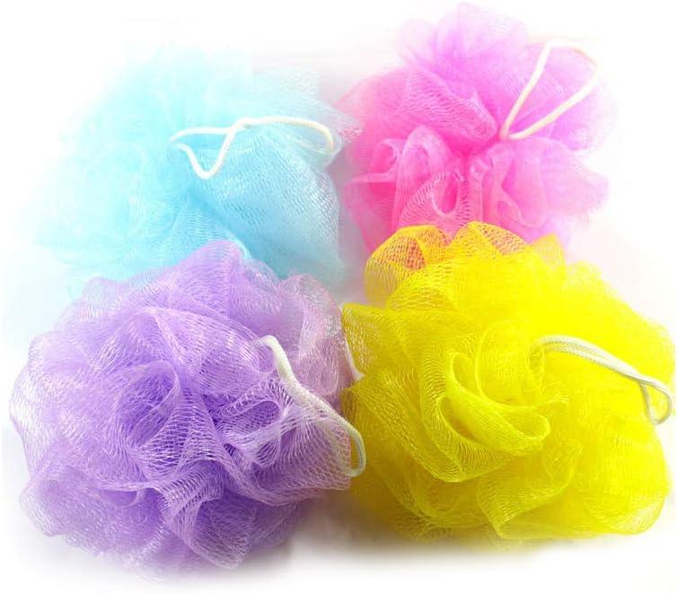 DierCosy Bath Shower Body Puff Sponge Mesh Ball Random Color Pack of 10