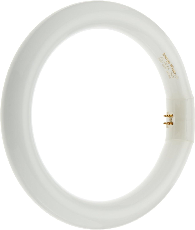 Bulbrite FCL-30LEX 30-Watt Circline Fluorescent T9 Bulb, 3000-Kelvin, G10q Base, 9-Inch Diameter, Warm White