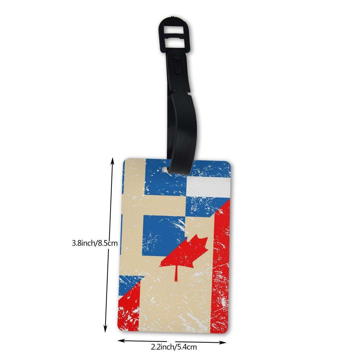 NB UUD Canada and Greece Retro Flag Travel Luggage Tag Cool Employees Card Luggage Tag Holders Travel ID Identification Labels for Baggage Suitcases Bags