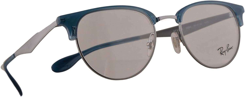 Ray-Ban RB 6396 Gafasp 51-19-140 Plateadas Azules Con Lentes De Muestra 2934 RX RX6396 RB6396: Amazon.es: Ropa y accesorios