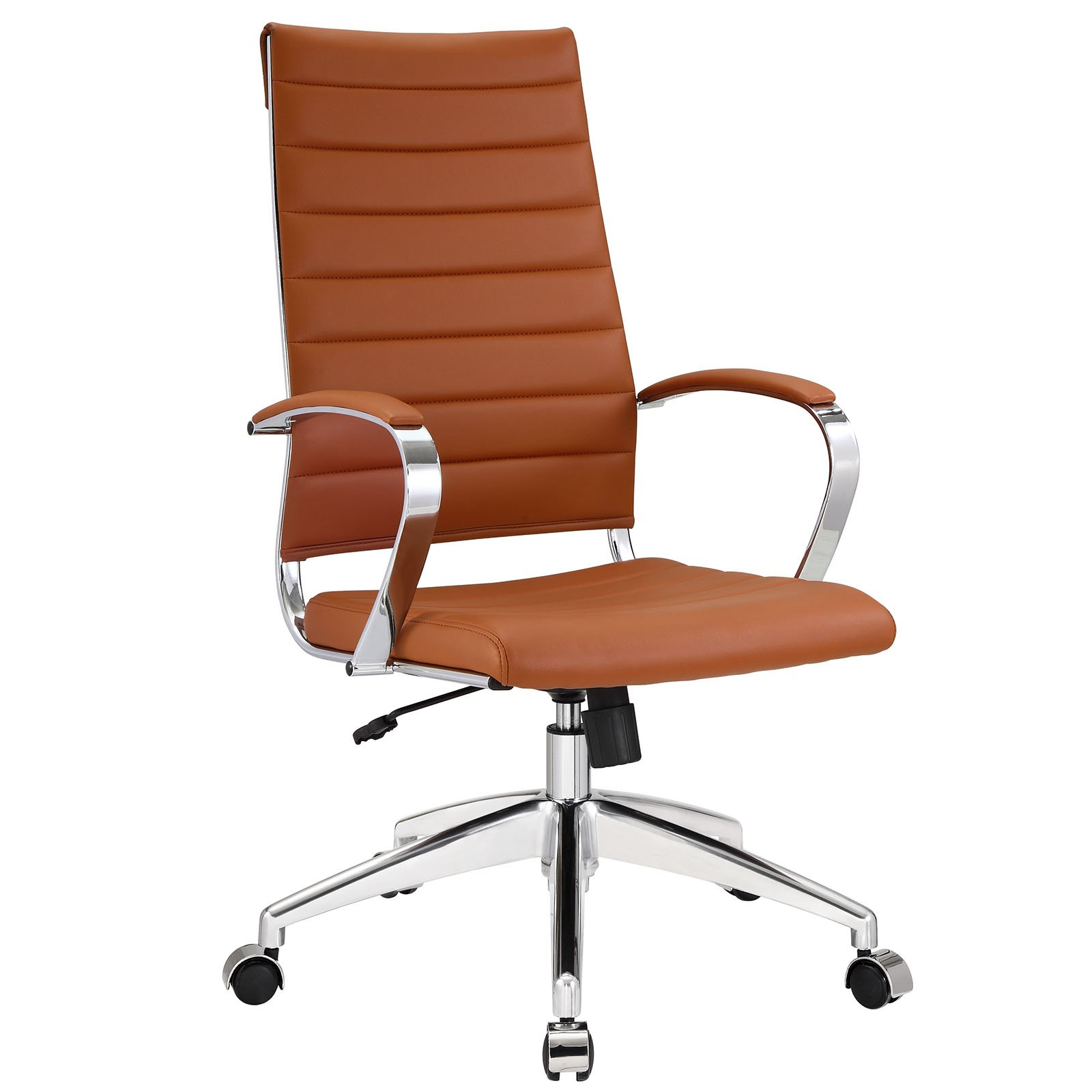 Modway Jive Ribbed High Back Executive Office Chair, Terracotta Vinyl by Modway
