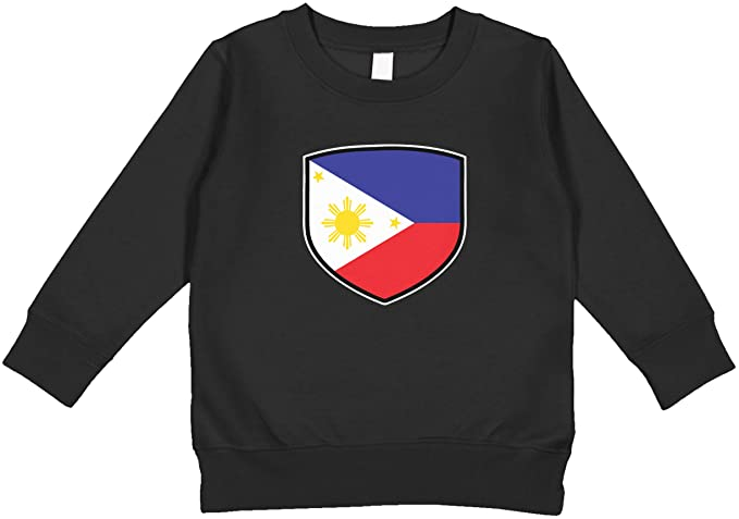 5e2ea08a8b2 Amdesco Philippines Shield Filipino Flag Toddler Sweatshirt, Black 2T
