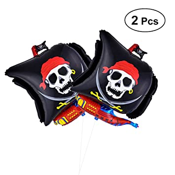 Toyvian Globo Pirata para Fiesta - Globo Hinchable Grande de Papel de Barco Pirata de 68cm, decoración de Halloween para niños, Paquete de 2